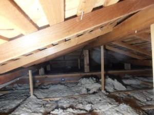 原因はネズミ。異臭がする屋根裏。断熱材入れ替え、消臭作業